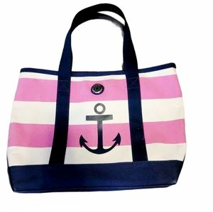 Tommy Hilfiger Striped Canvas Tote